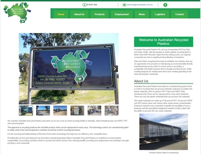 Australian Recycled Plastics now has a website