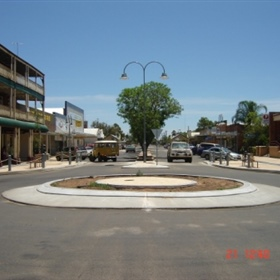 Main Street with roundabouts